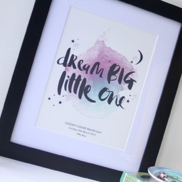 Dream Big_Black 02_Personalised