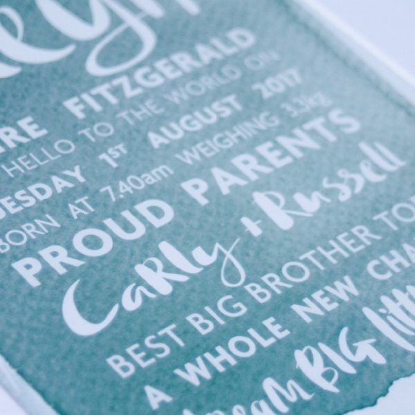 Personalised Birth Print 04