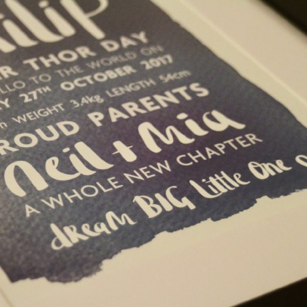 Personalised Birth Print_Philip