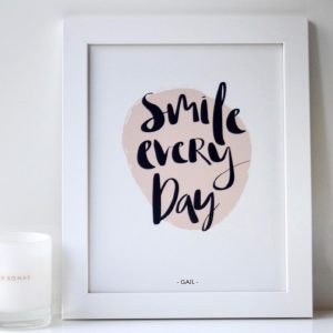 Smile Every Day_White_Personalised