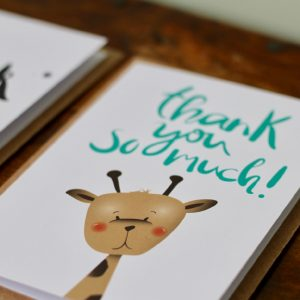 Thank you very much giraffe card